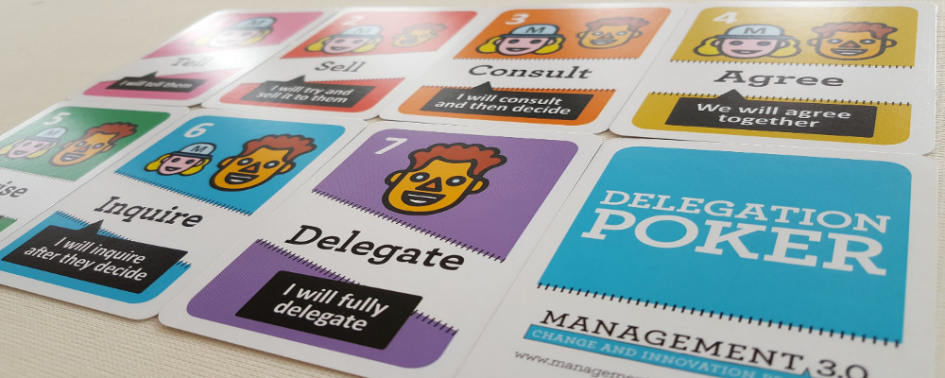 Delegation Poker card game